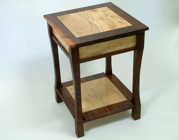 End Table – Black Walnut and Spalted Maple (MADE UPON ORDER ...