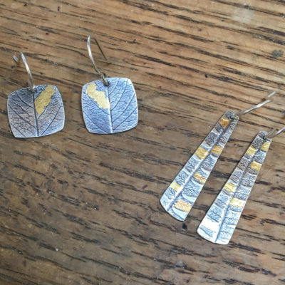 Eggtooth Originals Mona's Monday Keum Boo Earrings aka Attached Gold