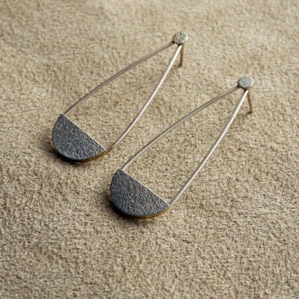 geometric minimalist earring